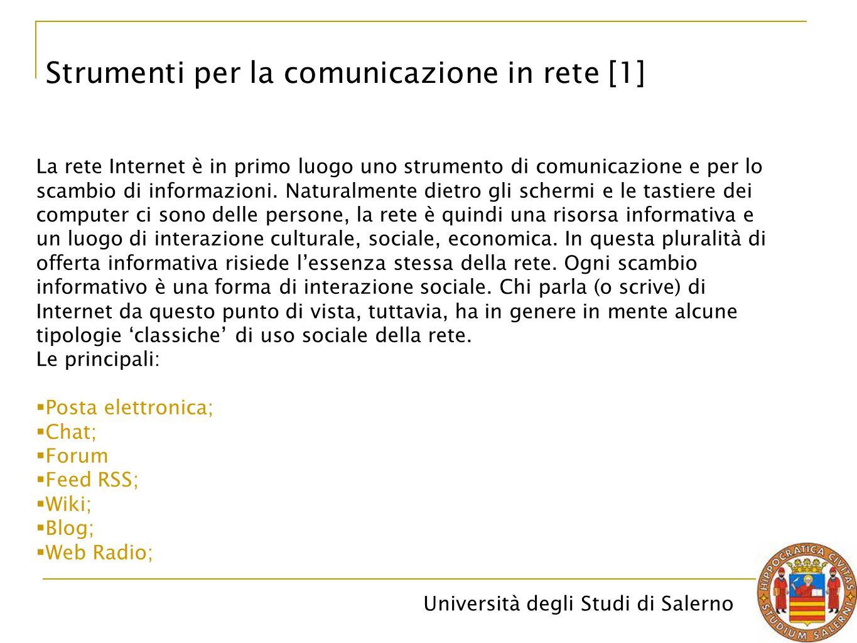 Strumenti per la comunicazione in rete [1]